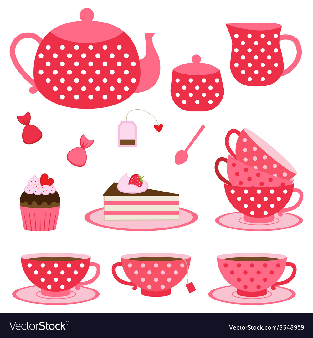 Tea party vector