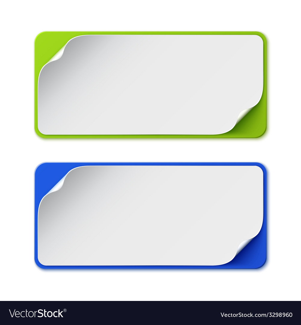 Set of two colorful banners vector