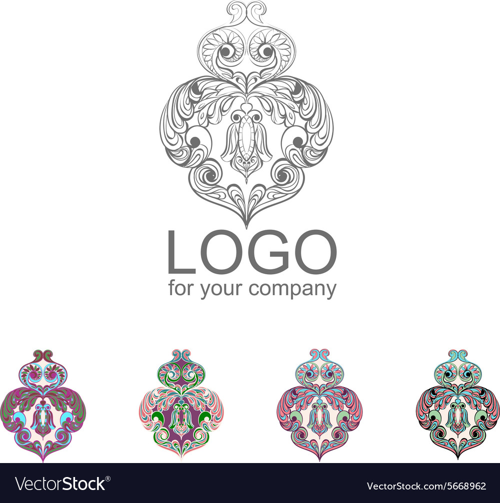 Logo owl doodle cartoon vector