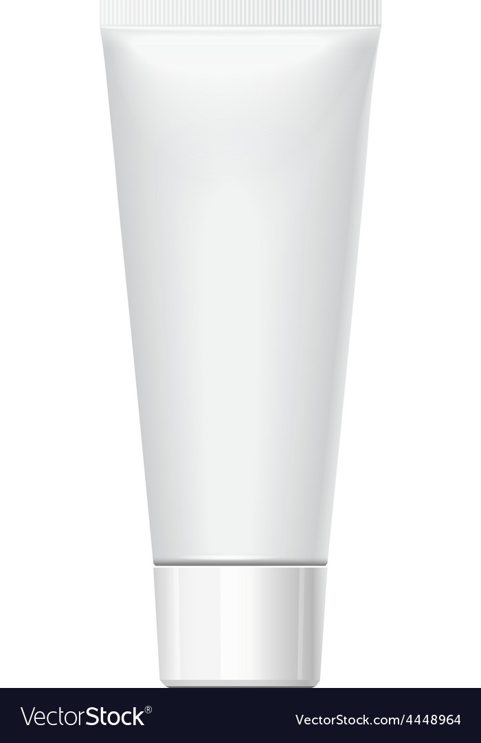Realistic white tube for cosmetics vector