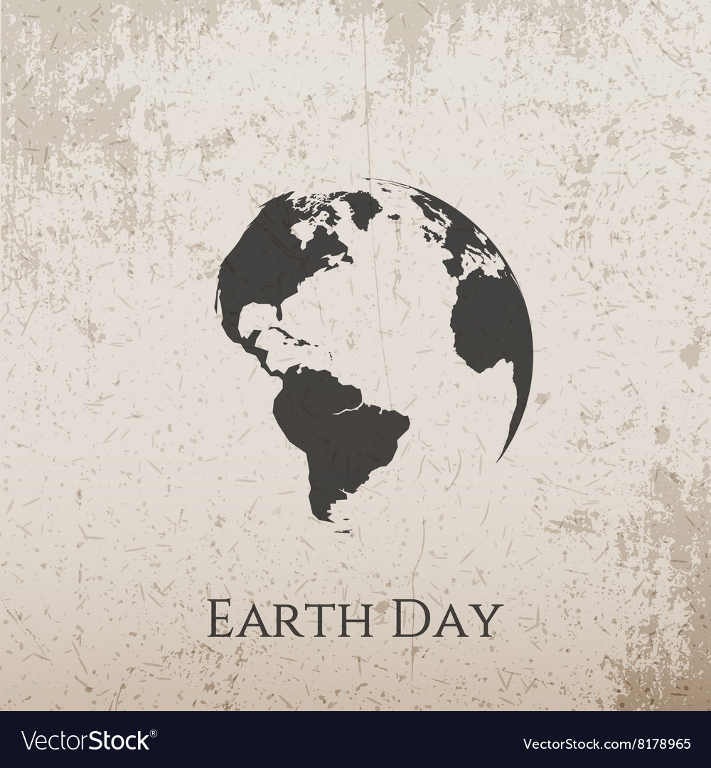 Earth day grunge concrete banner design vector