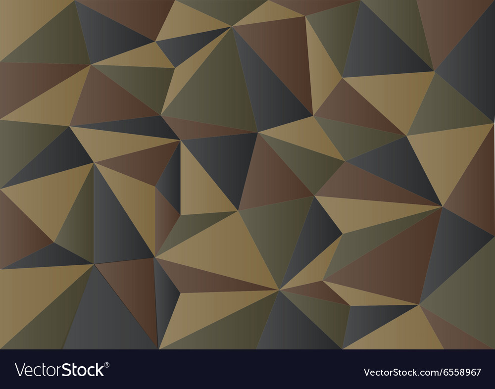 Dark green camouflage polygon background vector