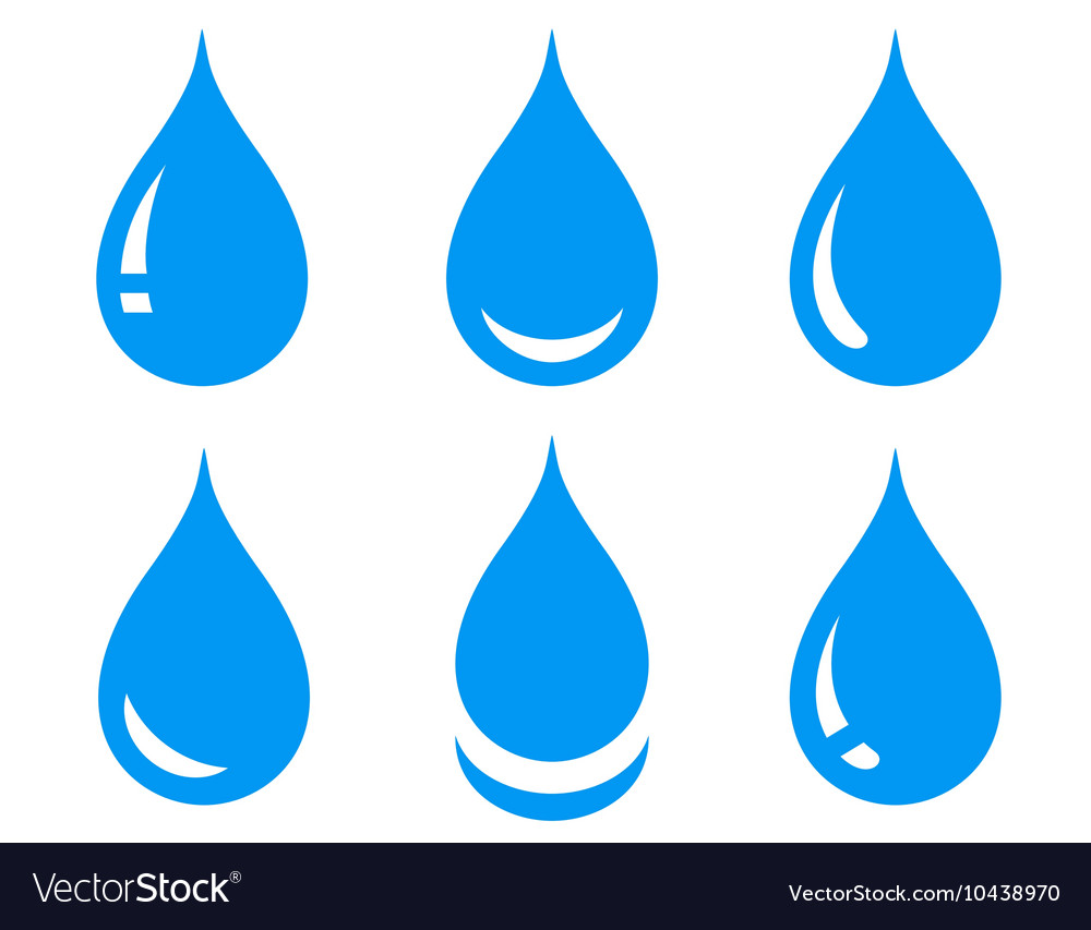 Water drops set vector