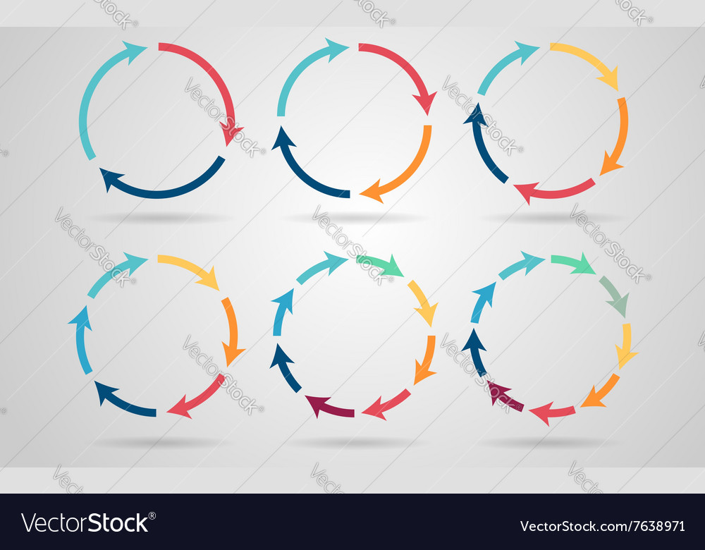 Circle arrows vector