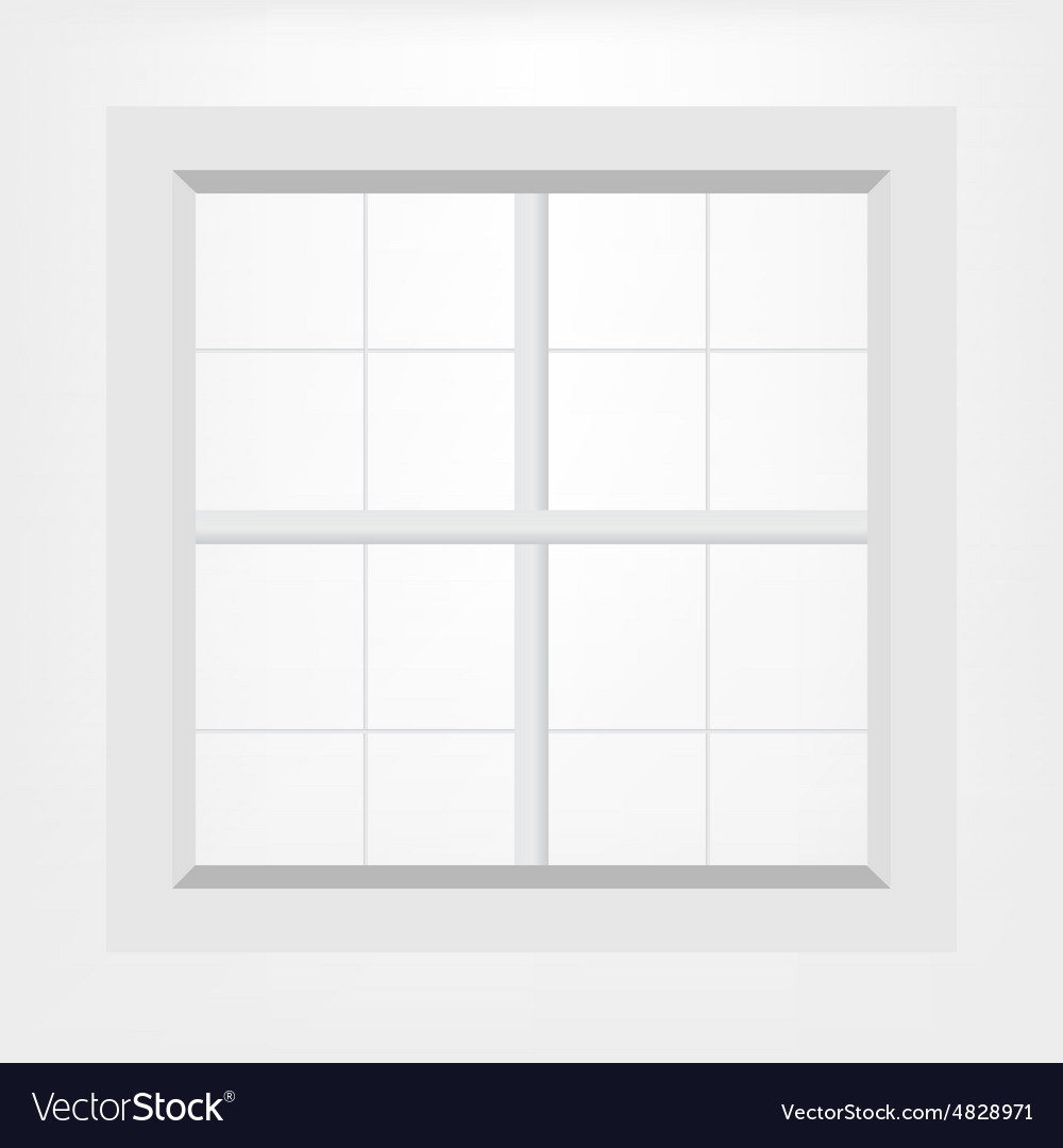 White window vector