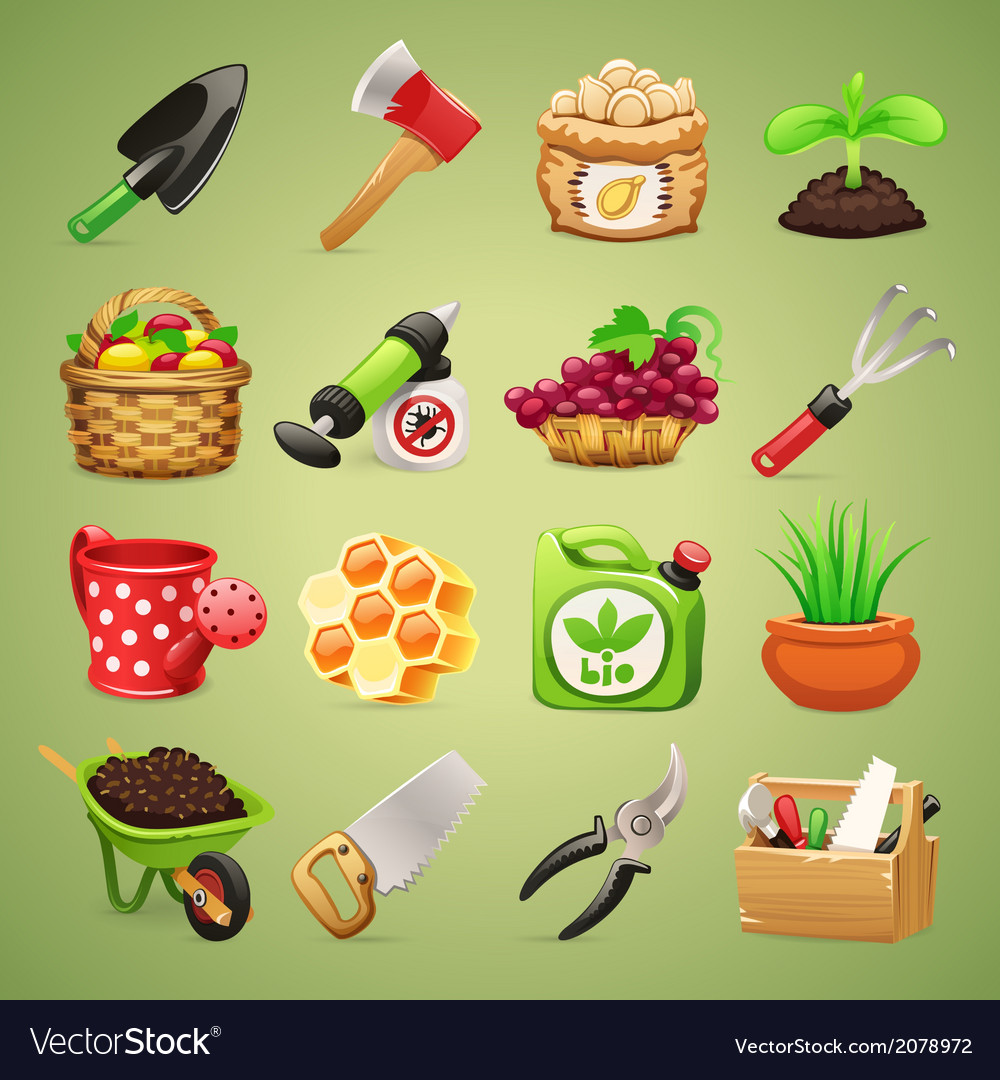 Farmer icons set1 1 vector