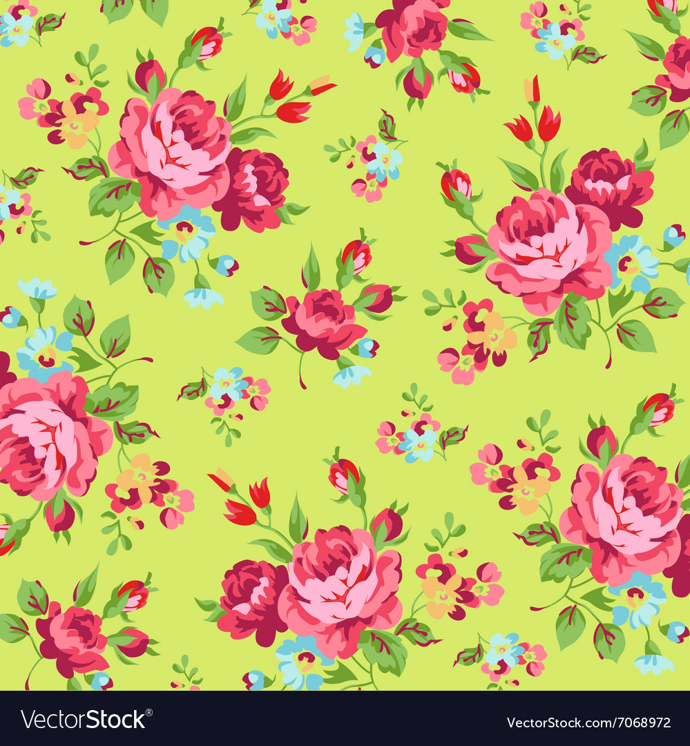 Floral pattern with red rose vector