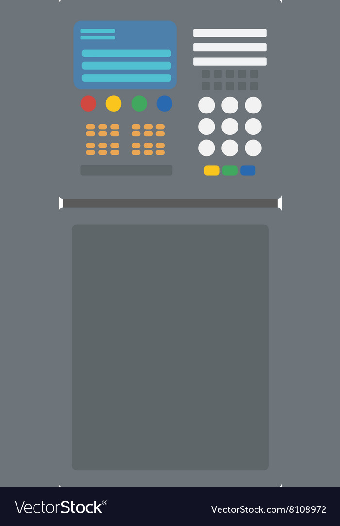 Industrial control panel vector