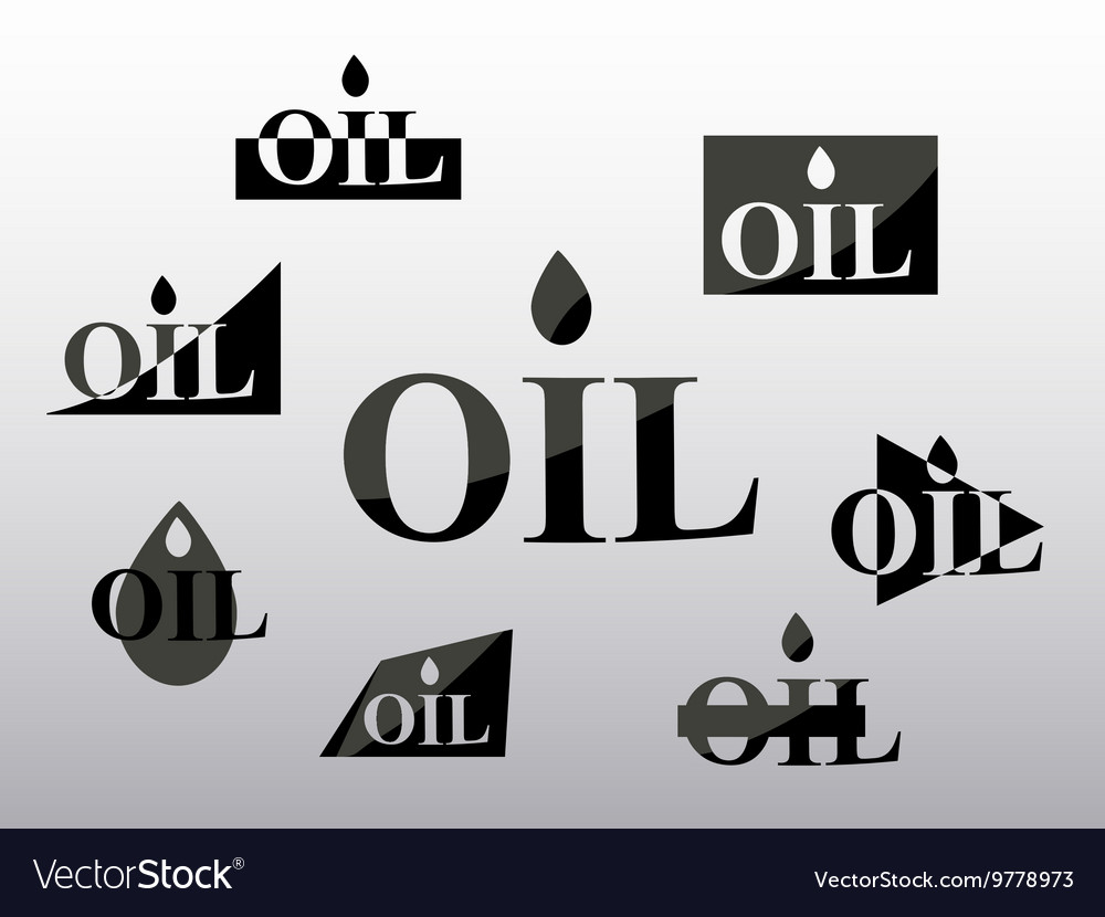 Logo oil industry set i vector