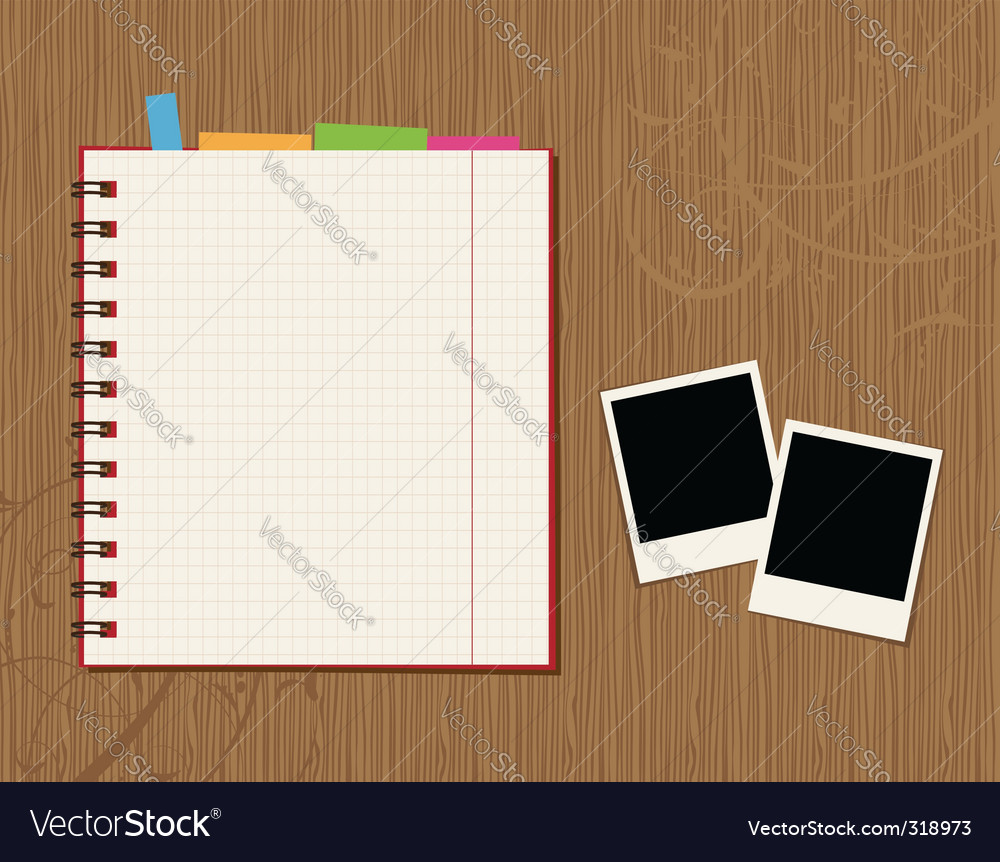 Notebook desktop vector
