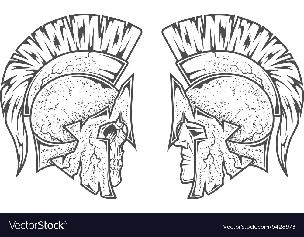 Spartan warriors two variants vector