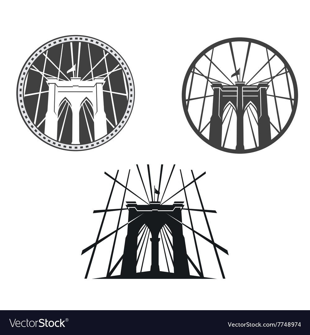 Brooklyn bridge new york vector