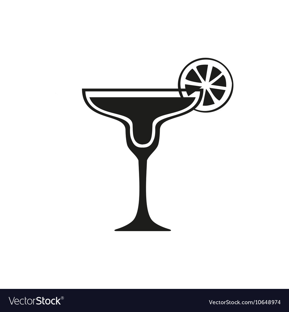 Margarita cocktail icon simple black design vector