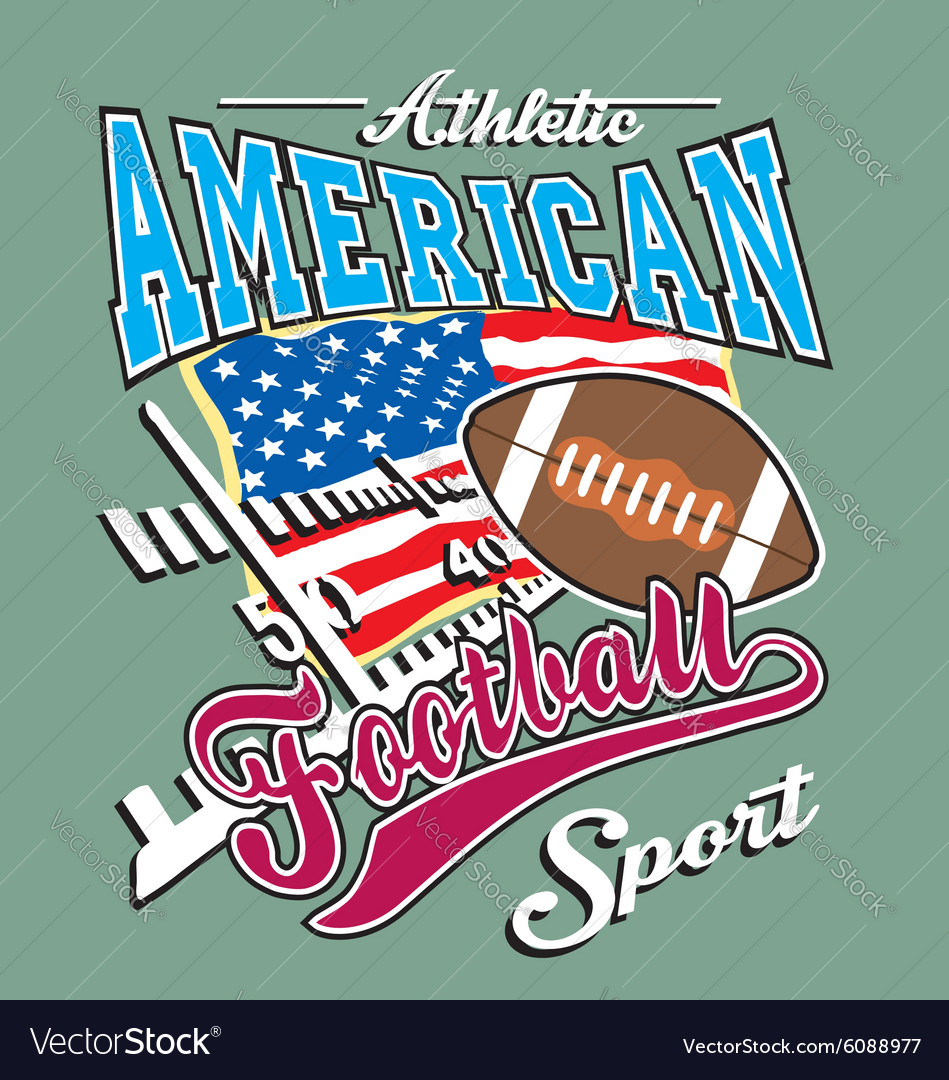 Athletic american football vector