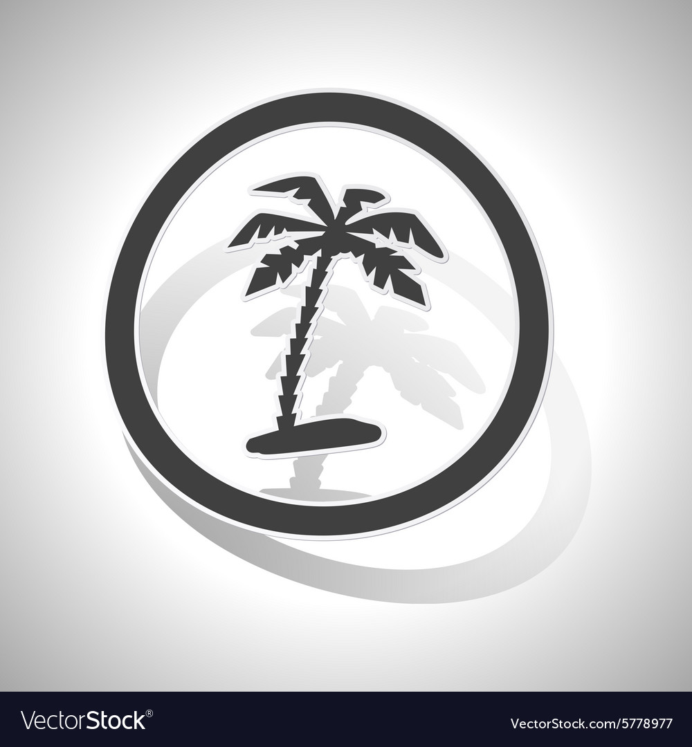 Curved vacation sign icon vector