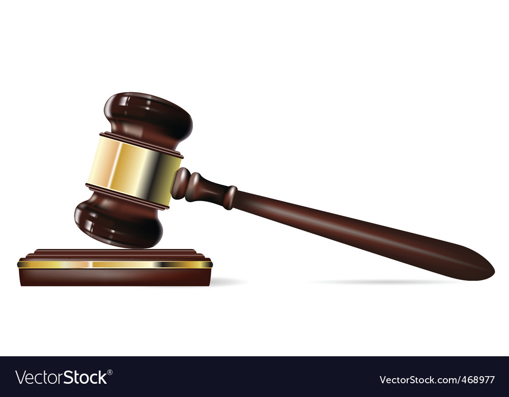 Justice gavel vector
