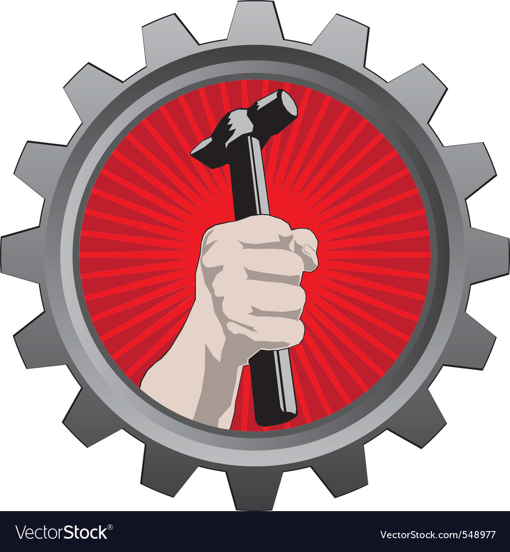 Metal badge vector