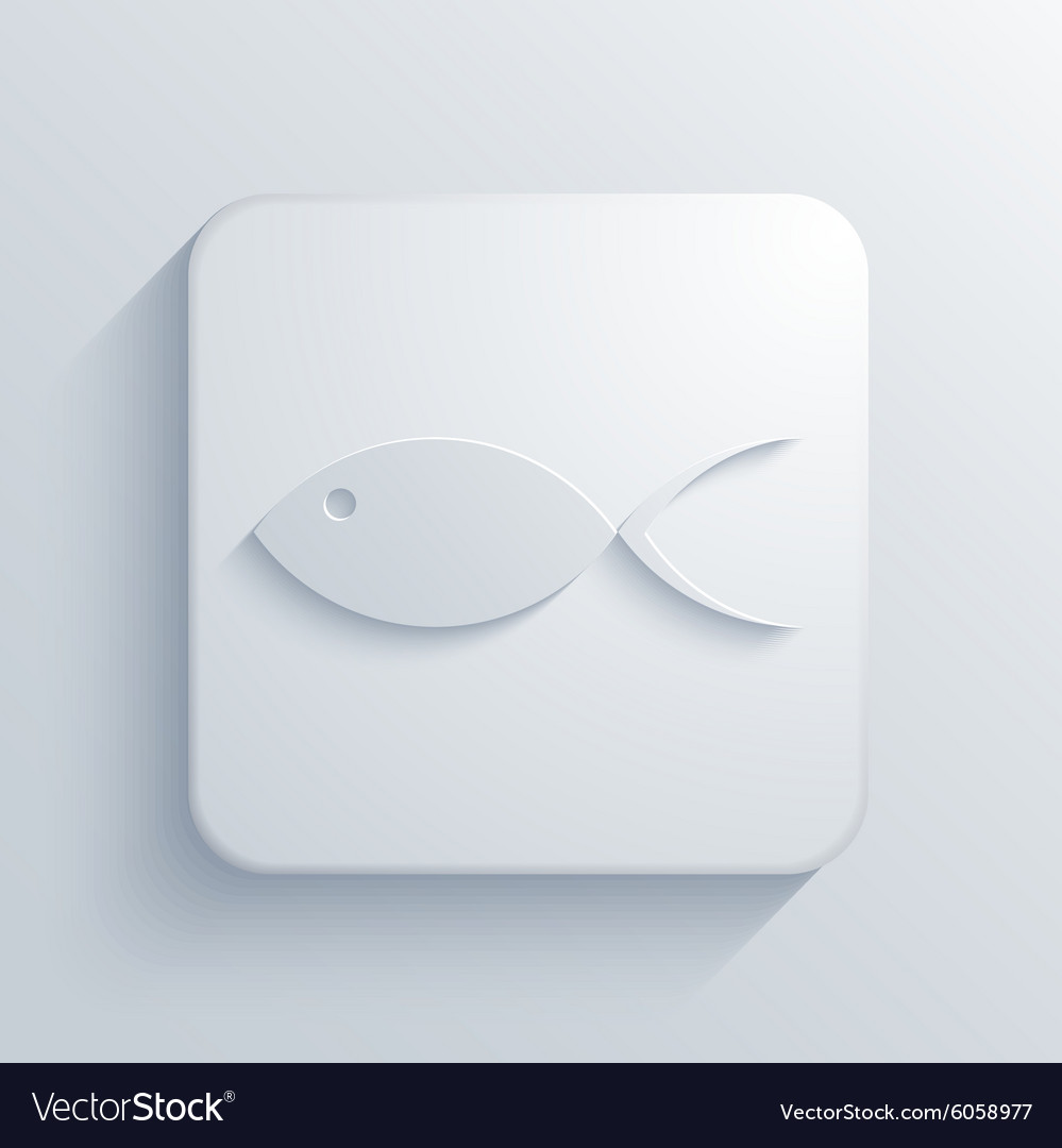Modern fish light icon vector