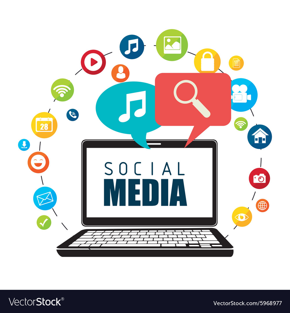 Social media entertainment graphic design vector