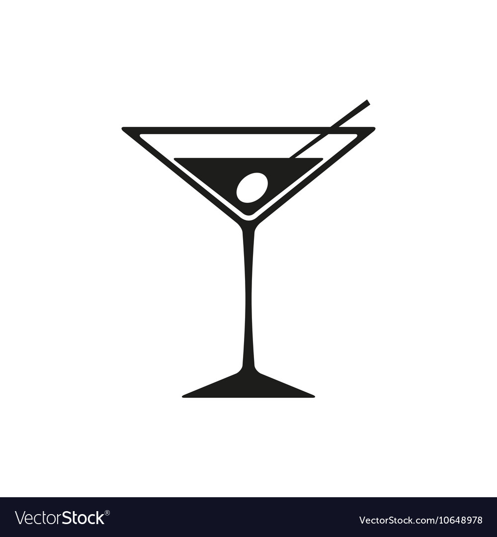 Martini icon isolated on white background vector