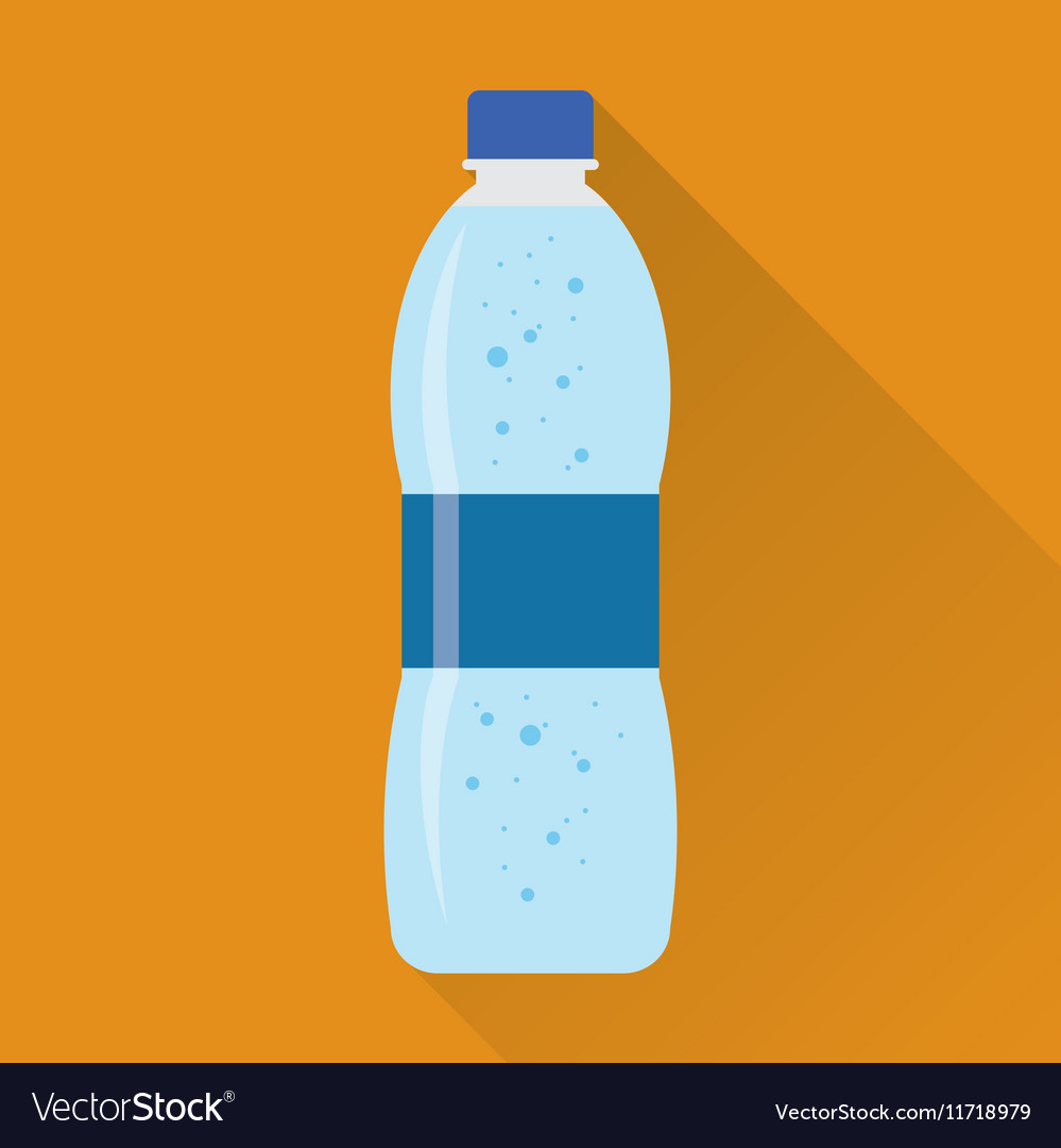 Bottle of fresh water flat icon vector