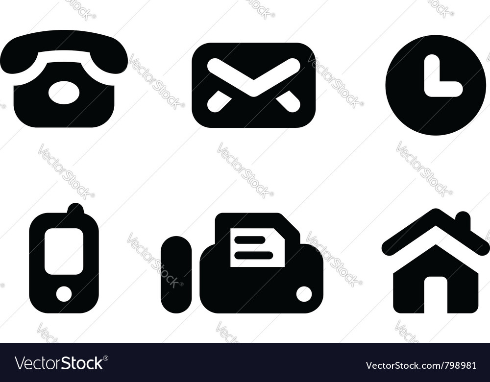 Contact info icons vector