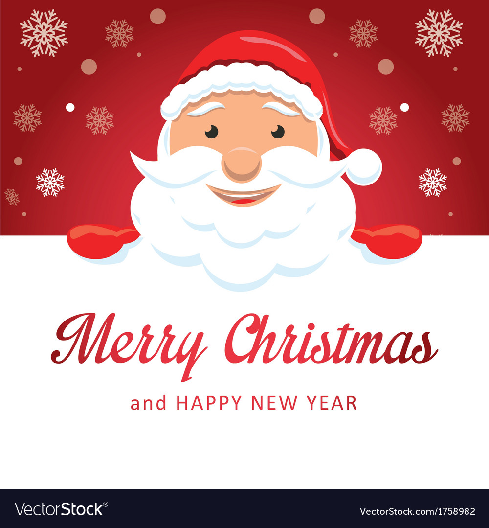 Merry christmas santa claus vector