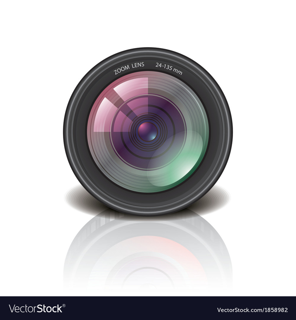 Object camera lens vector