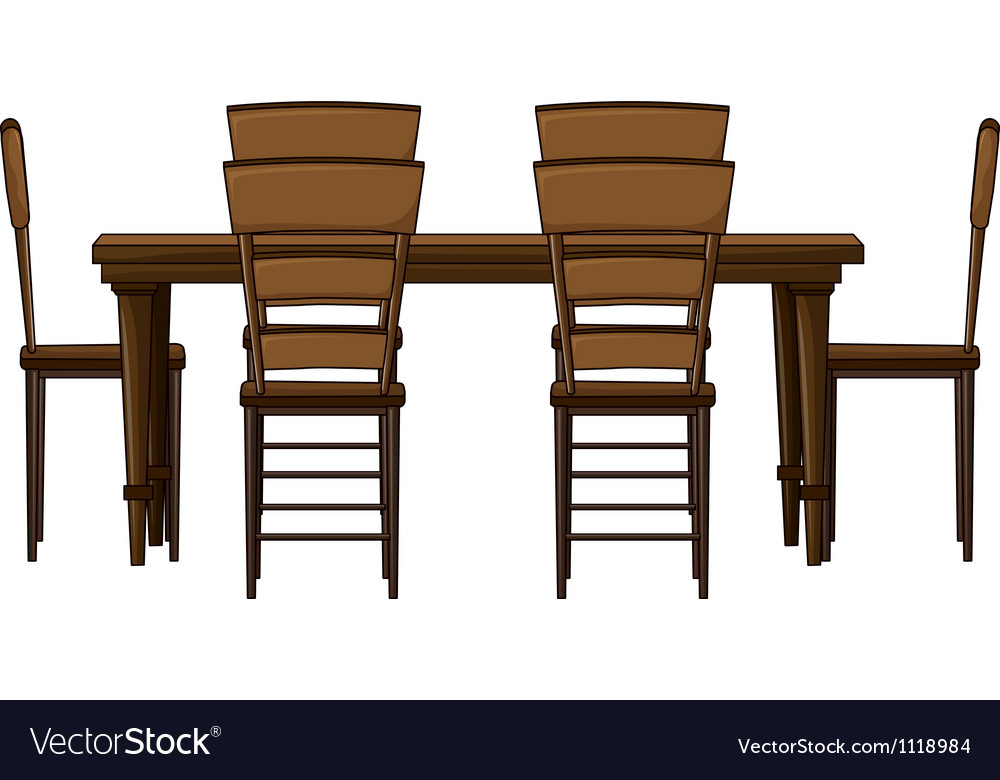 Dining room table vector