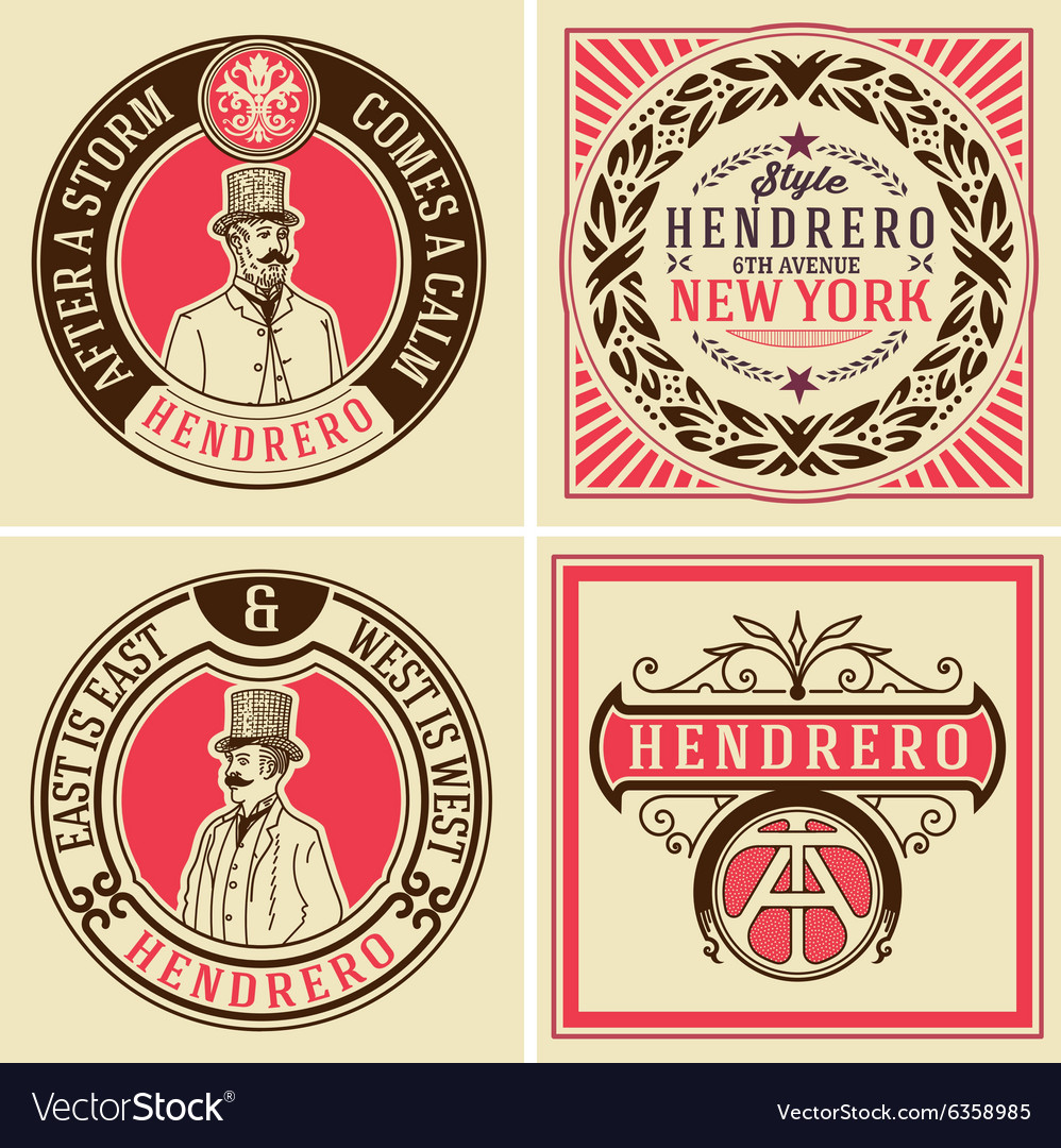 Retro designs set vector