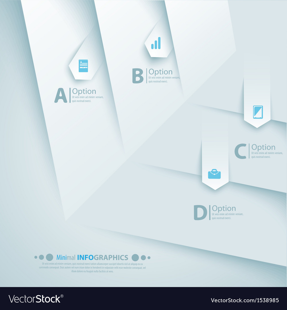 Simply minimal infographic template design vector