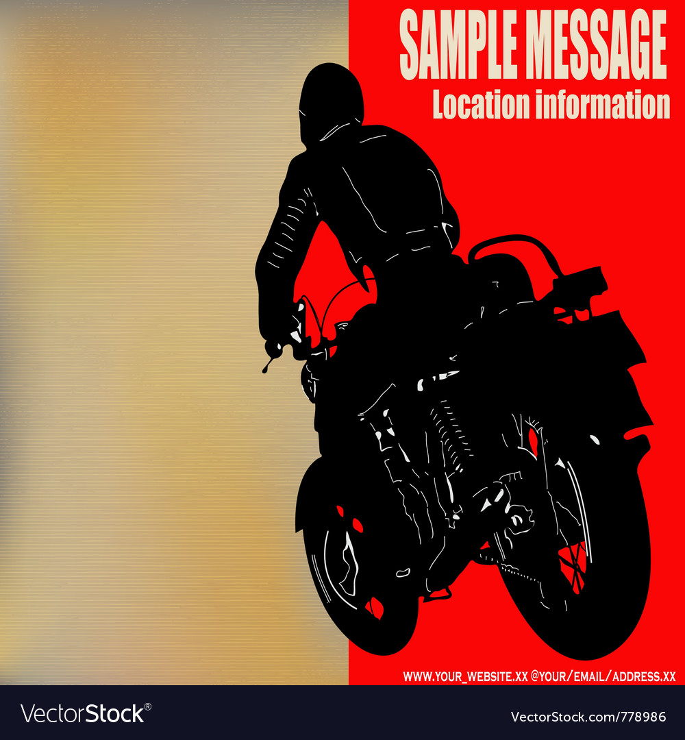 Biker background vector