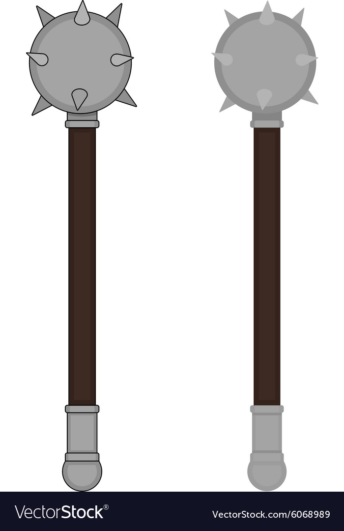 Medieval mace color vector