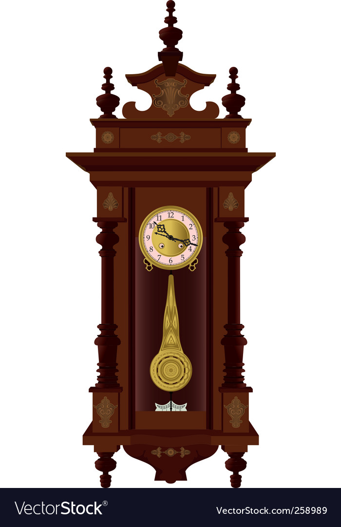 Pendulum clock vector