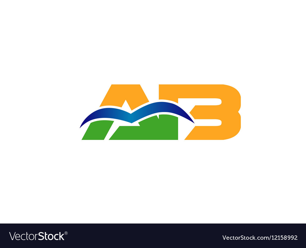 Ba company group linked letter logo vector