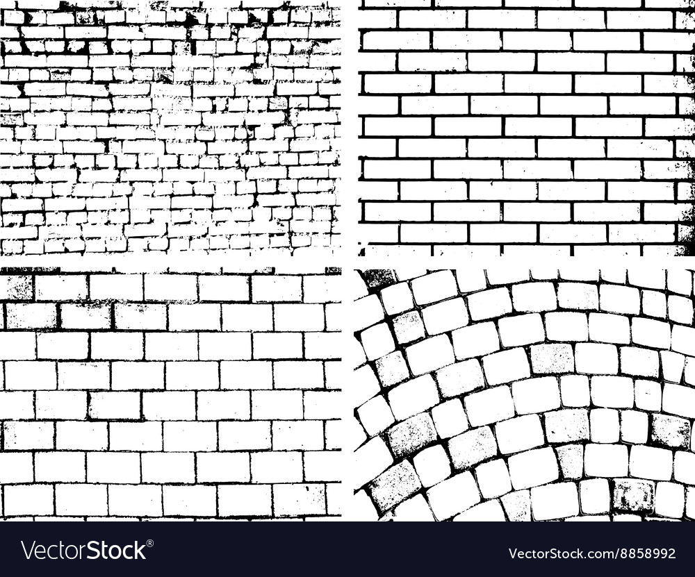 Overlay brick wall texture for your deesign vector