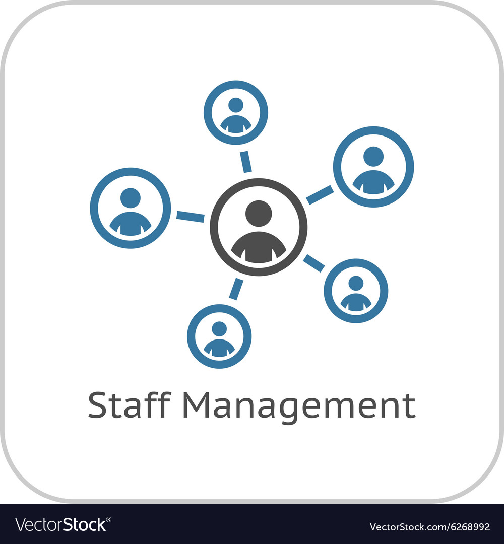 Staff management icon business concept flat vector