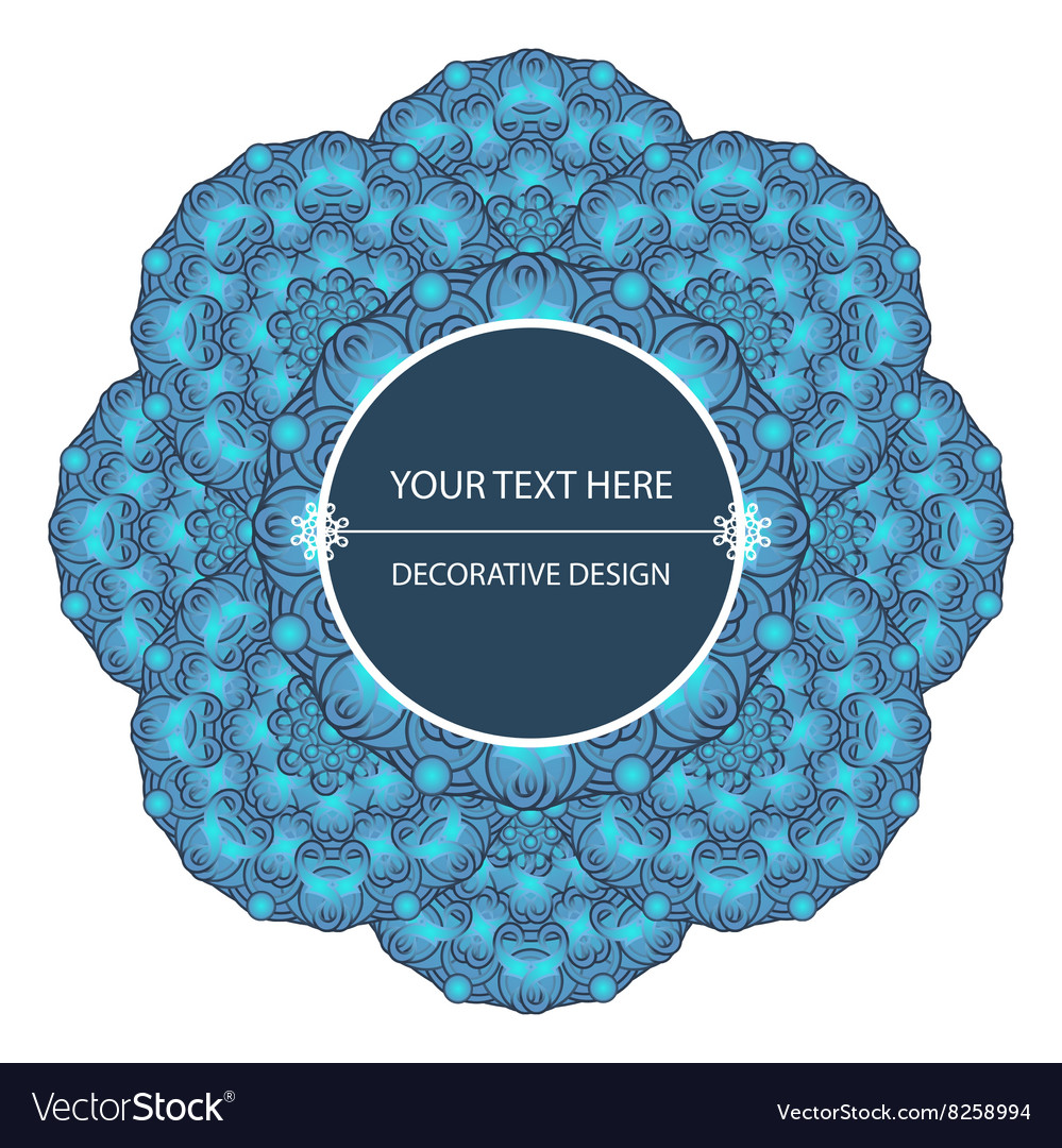 Decorative design element with a circular pattern vector