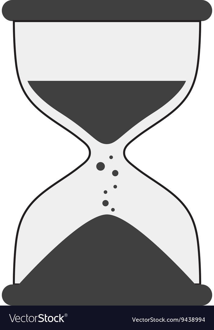 Hourglass icon clock design graphic vector