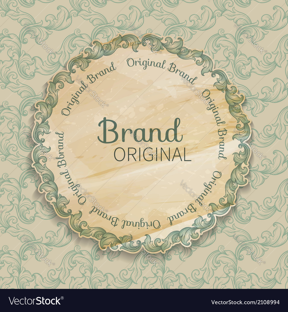 Round decorated frame vector