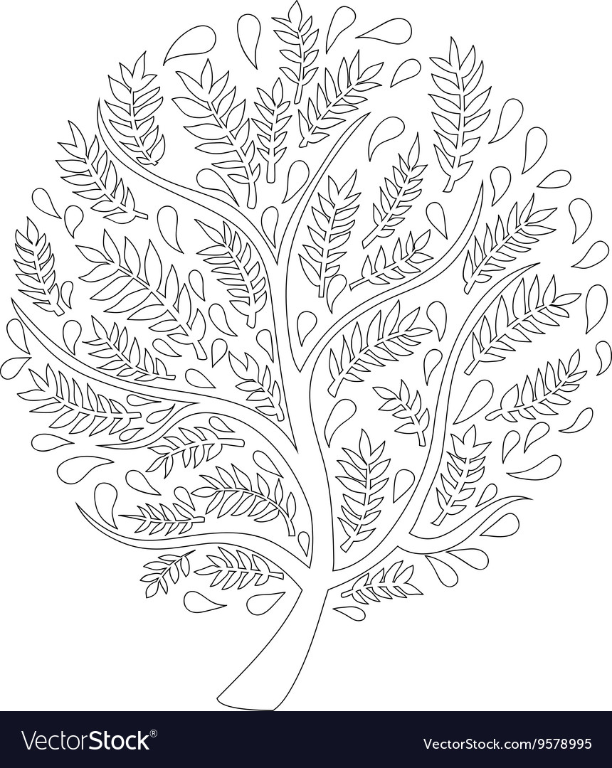 Tree isolated on white background vector