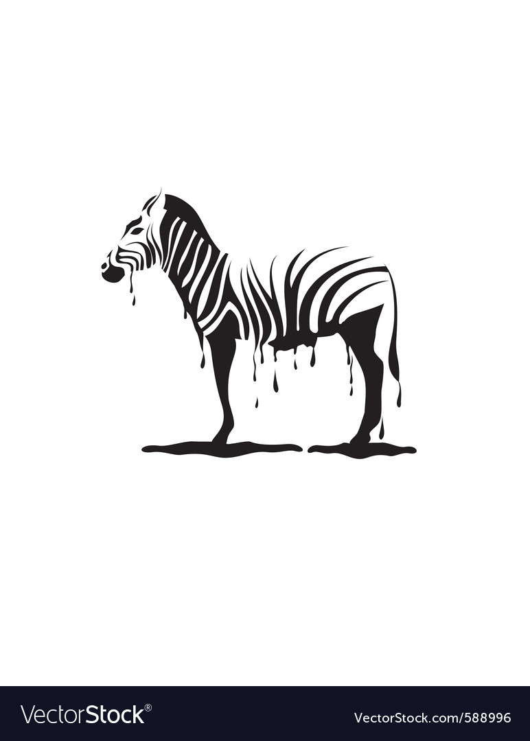 Graffiti zebra vector