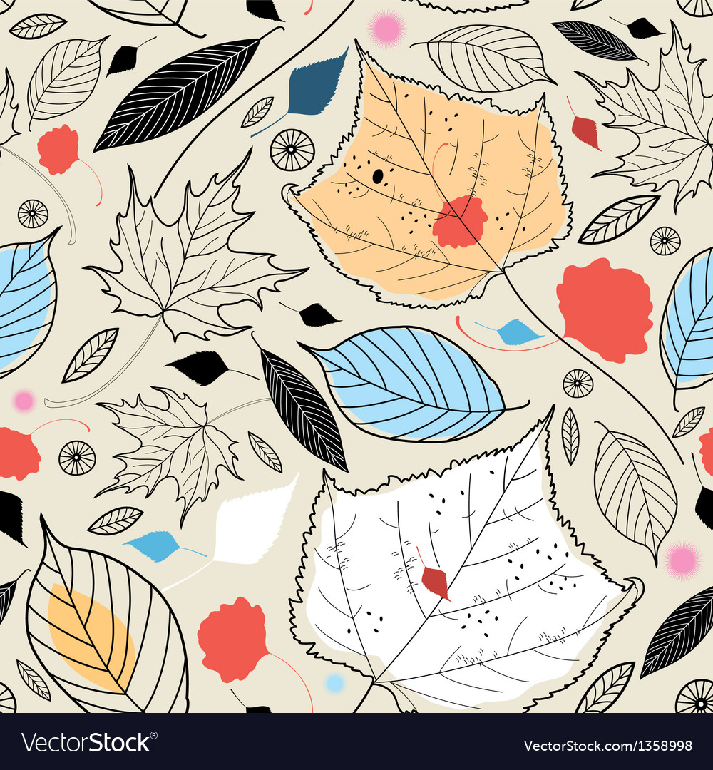Texture of autumn leaves vector