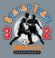 soccer team vector image vector image