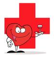 Heart waiter cartoon vector image