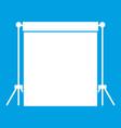 studio backdrop icon white vector image