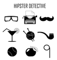 hipster detective icon vector image