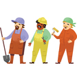 Manual workers vector image vector image