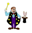 Magician on a white background vector image