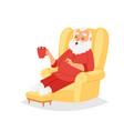 christmas santa claus character pose vector image